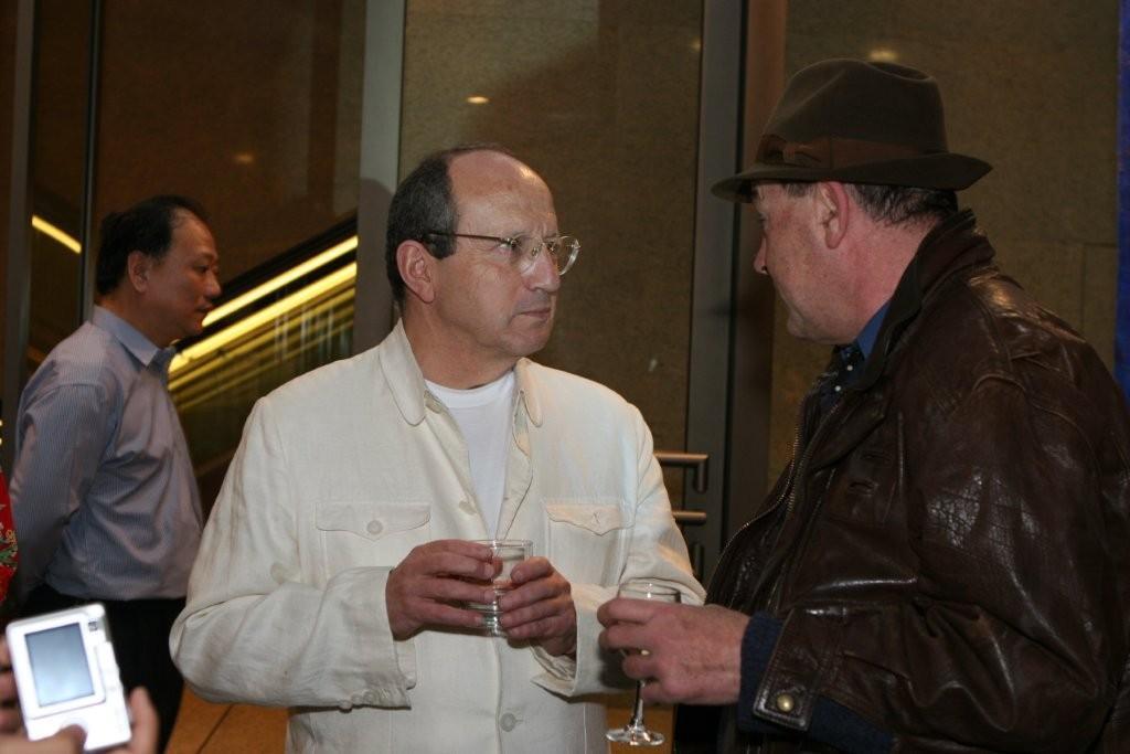 Claude Hudelot (en blanc) et Bernard Boursicot