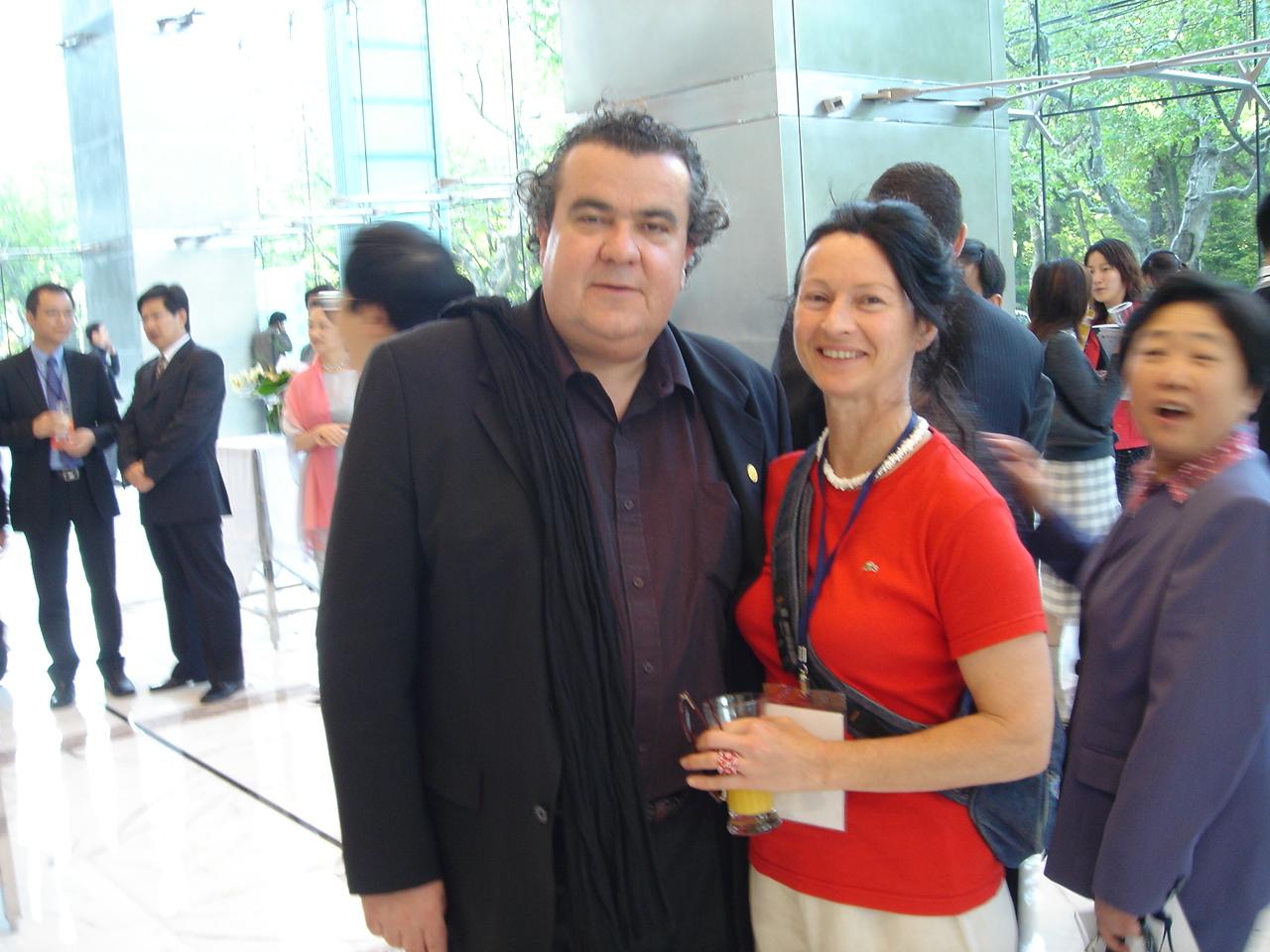 L'artiste Alexandrine et Richard Texier