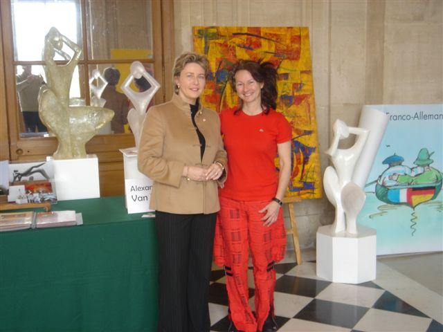 Laurence Huret et l'artiste Alexandrine